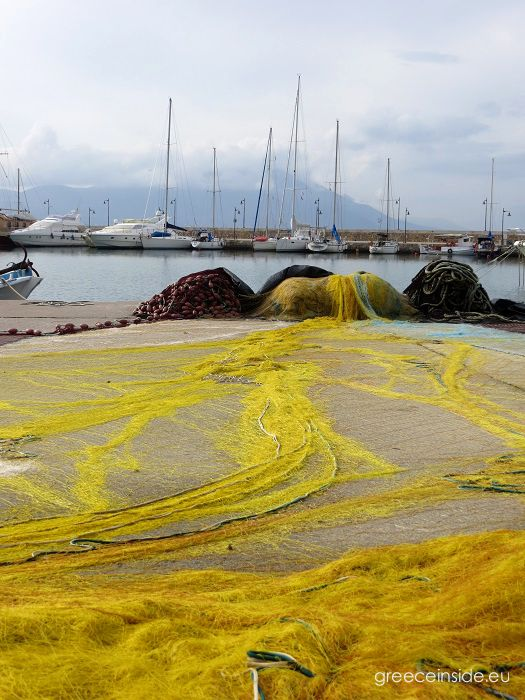 fishing net-yellow-yachts-Greece