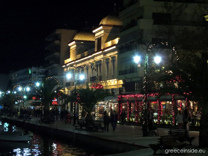 Chalkida-town house at night
