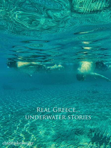 boys underwater Greece